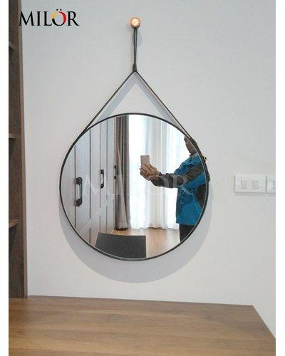 Gương dây da bàn trang điểm 60cm