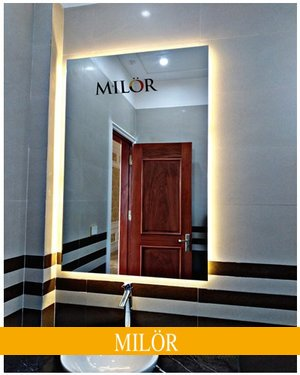 Gương đèn led hắt hình chữ nhật Hà Nội