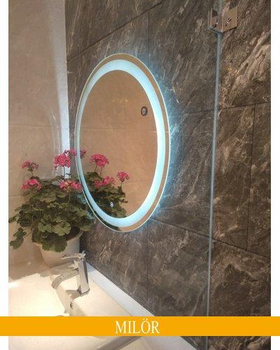 Gương elip đèn led trắng 60 x 80 cm