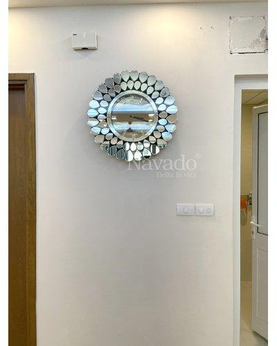 Gương đồng hồ cao cấp phòng khách