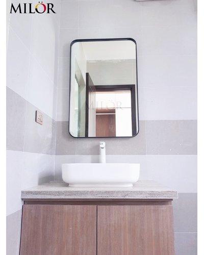 Gương vành thép mạ tĩnh điện phòng tắm cao cấp