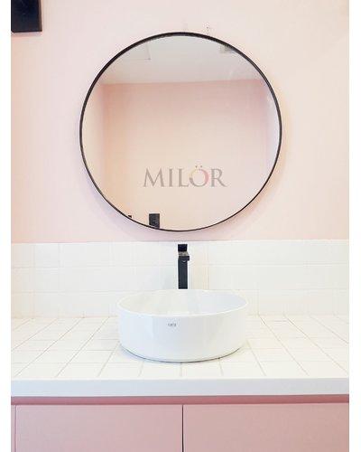 Gương tròn vành thép mạ tĩnh điện cao cấp