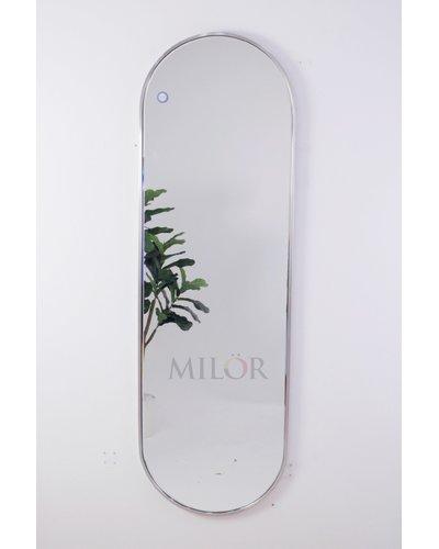 Gương vòm soi toàn thân inox trắng