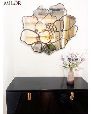 Gương trang trí nghệ thuật hoa hồng Dubai