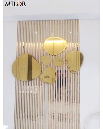 Gương trang trí decor Phòng khách bãi đá