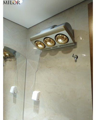 Đèn sưởi phòng tắm 3 bóng treo tường Milor