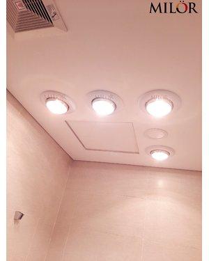 Đèn sưởi phòng tắm âm trần 4 bóng Hà Nội