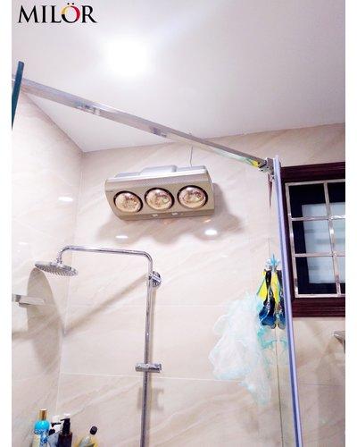 Đèn sưởi phòng tắm treo tường 3 bóng Milor