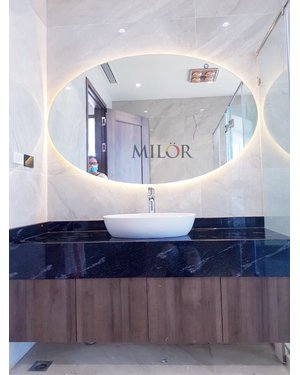 Gương bầu dục đèn led phòng tắm Hà Nội