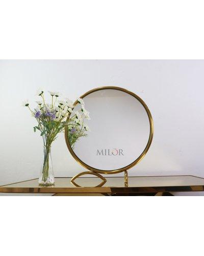 Gương inox bàn trang điểm để bàn Milor