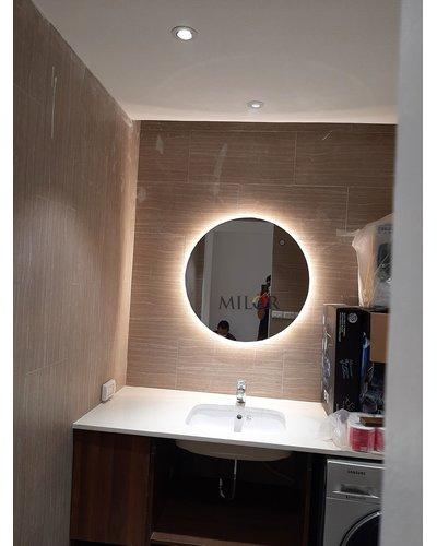 Gương tròn đèn led hắt phòng tắm Hải Dương